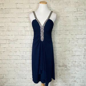 JS Boutique | Navy Sequin Cocktail Dress